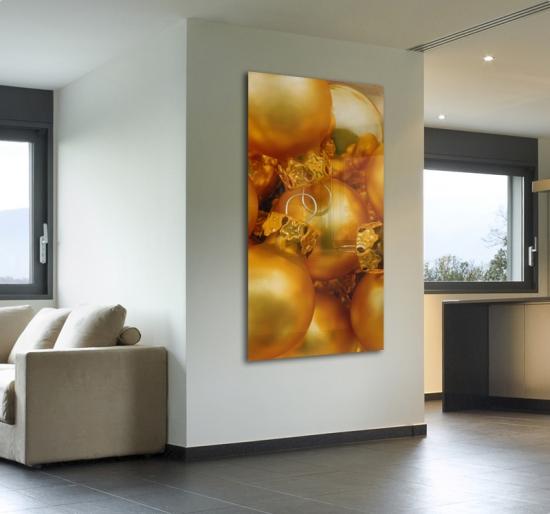 Goldene christbaumkugeln - Goldene wanddeko ...